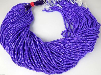 "20 Strands Purple Sugilite Hydro Seed Rondelle 2-2.5mm 12.5"" Long Smooth Beads"