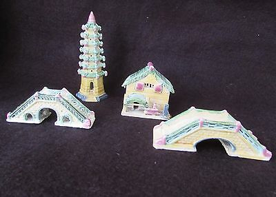 Vintage Chinese Shiwan Miniature Ornaments / Figurines