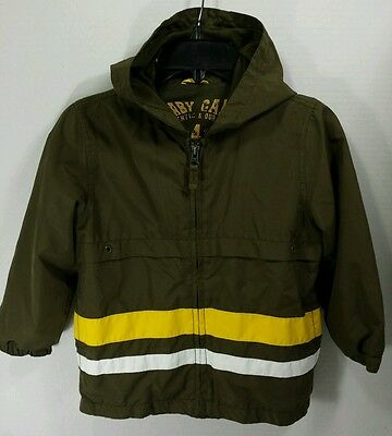 Baby Gap Toddler Boys Brown Hooded Rain Jacket Coat Light Weight Size 4T EUC