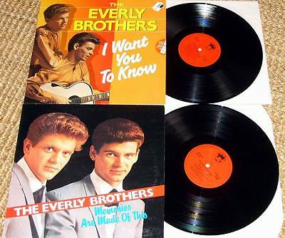 The Everly Brothers 2 Vinyl I want you to know & Memories are made of this