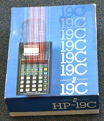 Hewlett-Packard HP 19C Programmable Printing Calculator Mint in Box