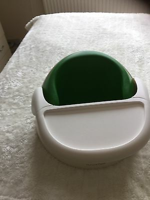 Mamas And Papas Snug Feeding Seat In Green Removable Tray