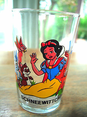 Vintage Juice Glass Tumbler German Disney Schneewittchen Snow White & Friends