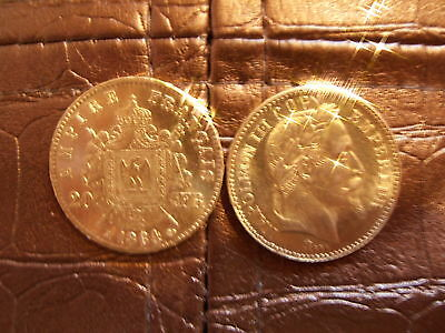 "piece 20 franc or monnaie napoléon copie"" lot de 2"""
