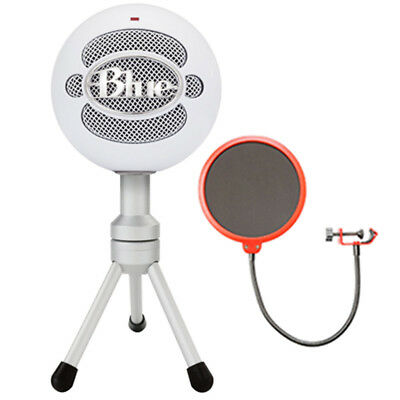 BLUE MICROPHONES Snowball iCE Versatile USB Microphone - White w/ Wind Screen