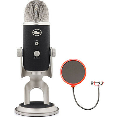 BLUE MICROPHONES Yeti Pro USB Condenser Microphone, Multipattern w/ Wind Screen