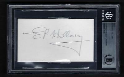 Edmund Hillary signed card BAS Authenticated 1st to Summit Mt. Everest