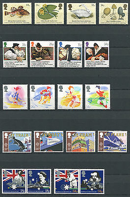 Great Britain 1988 34x Commemorative Stamps Set Mint Never Hinged - FREE UK POST