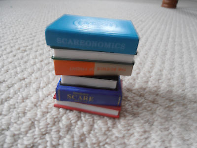 Monsters Inc Disney Store Ornament Figure Little Stack of University Scare Books