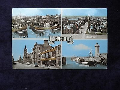 Vintage 1970s Scottish Postcard of Buckie, Banffshire, Harbour, Church Street