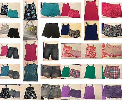 Girls Size 12 Clothing, Justice Summer Shorts, Tops, Clothes,  Outfits, Lot
