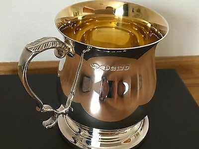 Mappin & Webb Sterling Silver & Gilt tankard Hallmarked 1999 Excellent condition