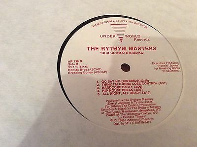 "The Rhythm Masters ‎– Our Ultimate Breaks - 12"" 1989 Frankie Bones Production"