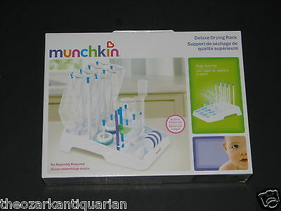 Munchkin Deluxe Drying Rack Bottle Cup Holder Organizer Collapsible Feeding NEW
