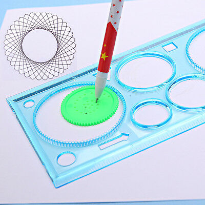 Newest 1 Pcs Geometric Tools Drawing Stationery Multi-Function Puzzle Ruler