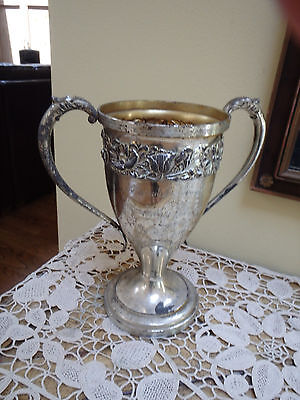 Antique Silverplate Trophy/Loving Cup Queen City Silver Company 1908