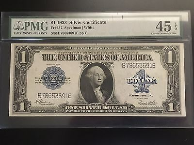 1923 $1 Silver Certificate, Large Note, Pmg Choice Extremely Fine 45 Epq