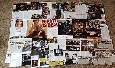Robert Pattinson Clippings Big Lot 95+ Articles Picures Ads Films Rare Old & New