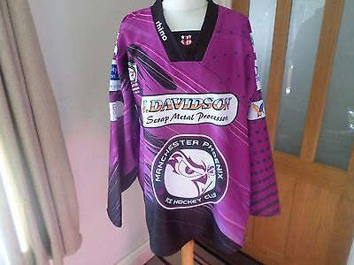 Rare Manchester Phoenix Play Off Champions 2013 Ice Hockey Shirt Size Xxl