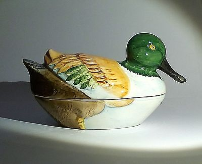 TERRINE CANARD en faïence Michel CAUGANT French vintage duck dish