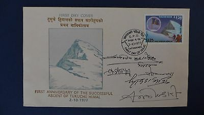 1977 First Anniversary of the Successful Ascent of Tukuche Himal (signed).