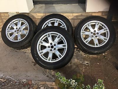 "Genuine Authentic Range Rover Evoque 18"" Style 2 Silver Alloy Wheels & Tyres X4"