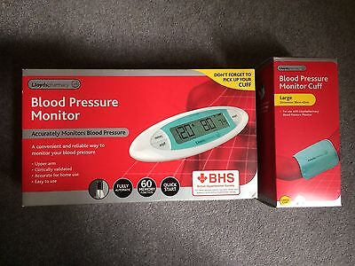 Lloyds Blood Pressure Monitor And Cuff. New In Sealed Boxes