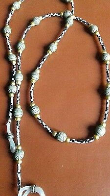beaded glasses chain new 19 in long