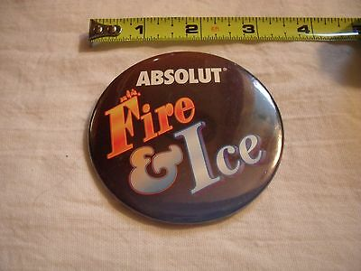 Absolut vodka Fire & Ice promo pin