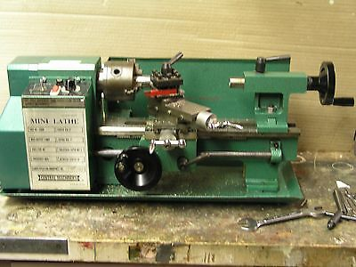 "CENTRAL MACHINERY 7"" x 10"" PRECISION Mini Metal Lathe NICE CONDITION"