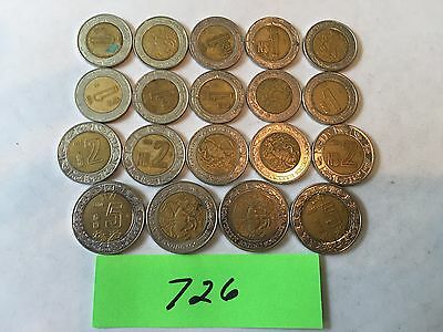 Mexico coins Peso Bimetalic foreign coin lot 726