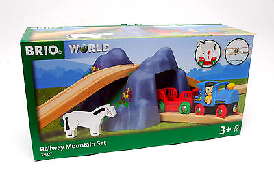 New Brio 33027 Railway Mountain  Set  Train Trains Wooden