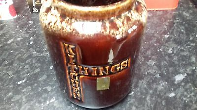 Fosters Pottery Kitchen Things Jar