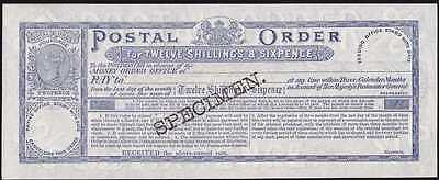 GREAT BRITAIN 1880s QV 12/6 Postal Order superb UNC !