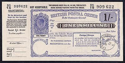 GREAT BRITAIN 1952 KGVI 1/- Postal Order superb UNC !