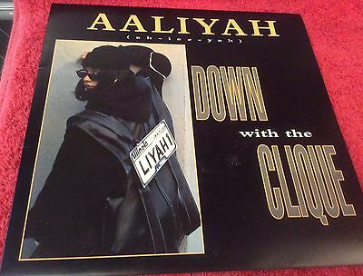 """Aaliyah - Down With The Clique 12"""" Vinyl Record - 1995 Uk Release"""