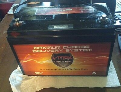 Vmax SLR125 12V 125AH Deep Cycle Solar AGM Battery Ships From Ohio