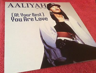 """Aaliyah - At Your Best You Are Love - 12"""" Vinyl Record - 1994 Uk Mixes"""
