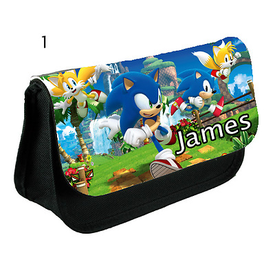 SONIC THE HEDGEHOG personalised Pencil Case, make up bag, school any name