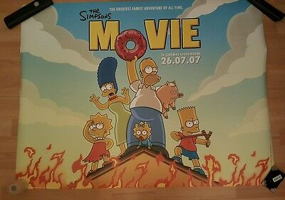 The Simpsons Movie Official Cinema Quad Poster (Special Offer)