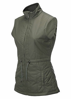 New With Tags = Callaway Golf - Ladies Quilted Jacket - Gunmetal - Rrp £69.99