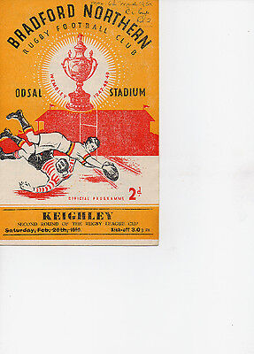 R.L. Programme  Bradford Northern  v  Keighley 6-3-50 RLCC 2nd rd,