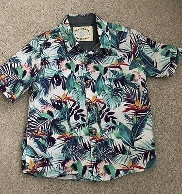 Baby Boys Next Short Short Sleeved Summer Hawaiian Floral Size 1.5-2 Years 18-24