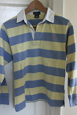 Boys Ralph Lauren Long sleeve rugby t shirt. Good condition. Size M. 10-12 Years