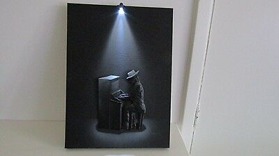 "Steepletone Canvas Art Deco 3D Picture ""piano"" With Spotlight."