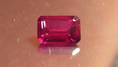 AAA 18.90 Ct Lab Created Synthetic Pigeon Blood Red Ruby Octagon Gemstone