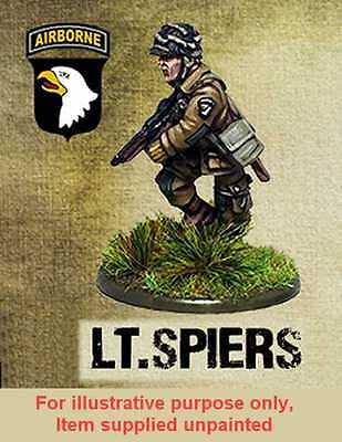 Warlord Games Bolt Action - Lt Ronald Speirs 28mm Wargames Miniature Unpainted