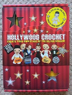 Hollywood crochet kit - Elvis, Marilyn Monroe, James Bond, Audrey Hepburn