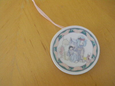 Precious Moments Come Let Us Adore Him 2 3/4 inch Collector Plate