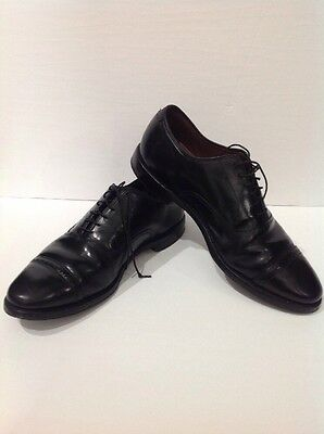 Brooks Brothers Lace-Up Oxford Shoes Size 9.5D Black Leather Dress